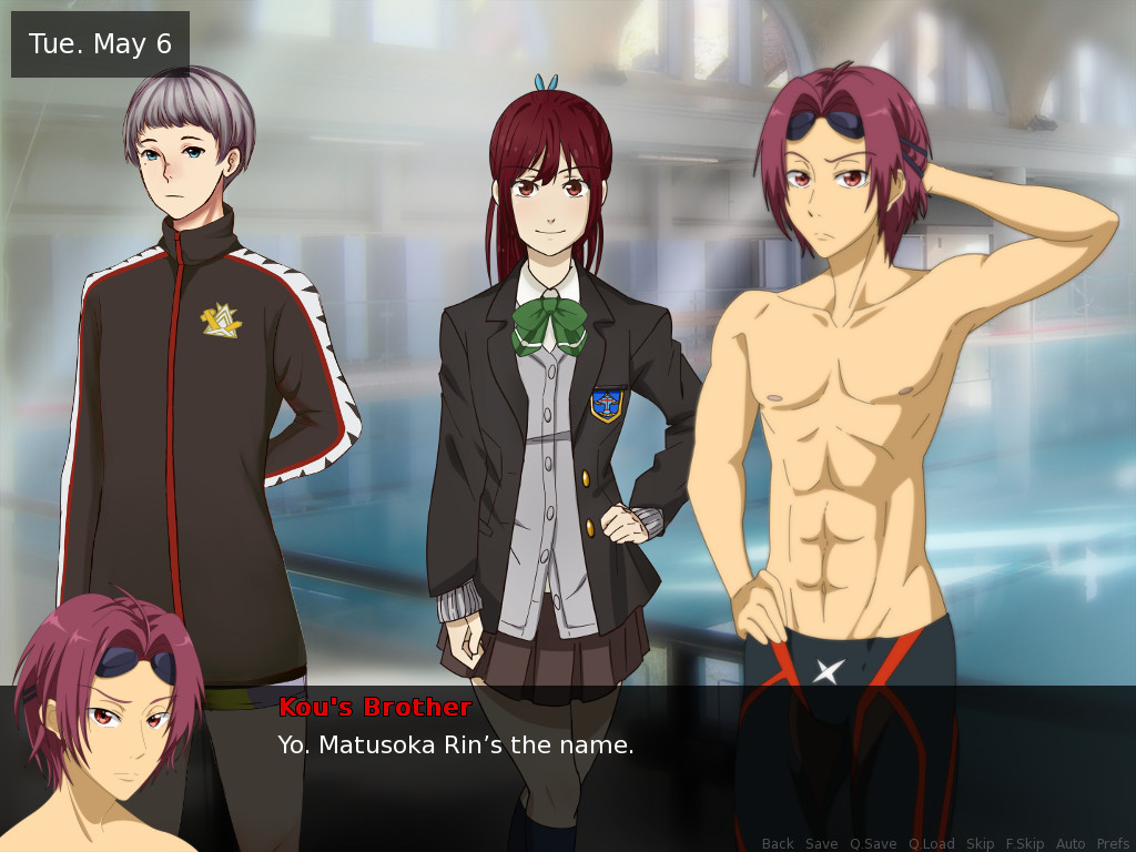 Swim club dating sim